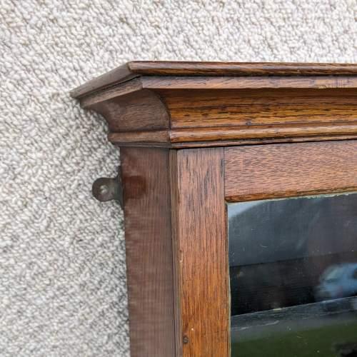 Edwardian Oak Shop Display Cabinet image-3