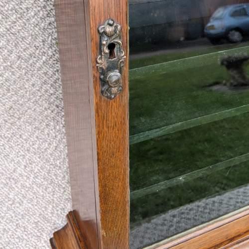 Edwardian Oak Shop Display Cabinet image-6