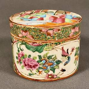 19th Century Cantonese Famille Rose Lidded Jar