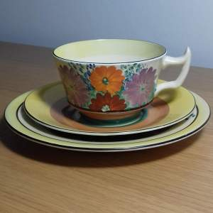Clarice Cliff Bizarre Gayday Trio of Cup Saucer and Plate