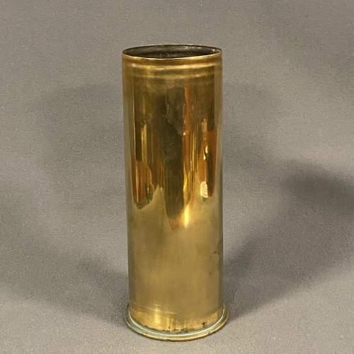 German WWI Brass Shell Case Vase image-1