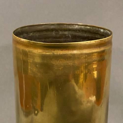 German WWI Brass Shell Case Vase image-2
