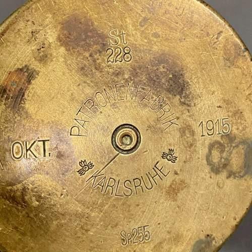 German WWI Brass Shell Case Vase image-4