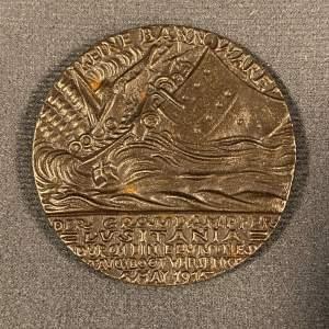 1915 German Lusitania Sinking Iron Medal