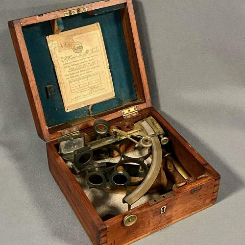 19th Century Boxed Sextant by Henry Hughes and Son image-1