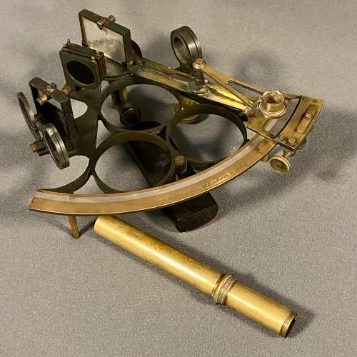 19th Century Boxed Sextant by Henry Hughes and Son image-2