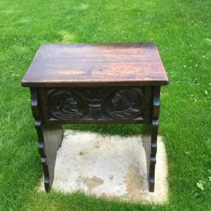 19th Century Oak Monks Stool