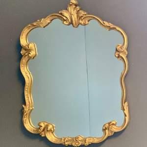 Gilt Framed Rococo Style Mirror