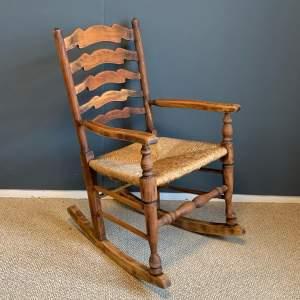 Rush Seat Rocking Chair
