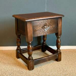Small Oak Box Stool
