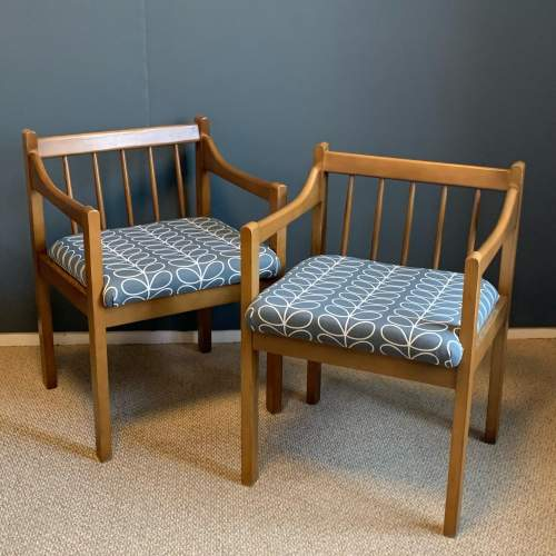 Mid 20th Century Teak Bench and Two Chairs image-3