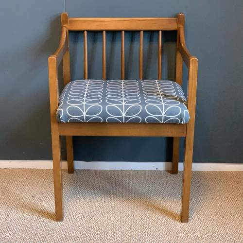 Mid 20th Century Teak Bench and Two Chairs image-5