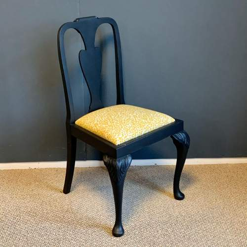 Painted Cabriole Leg Chair image-1