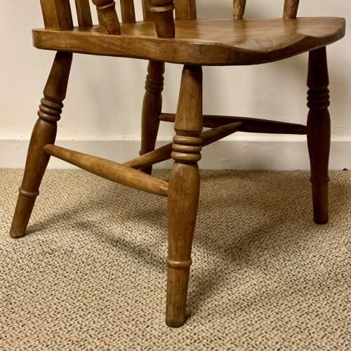 Victorian Farmhouse Slatback Windsor Chair image-4