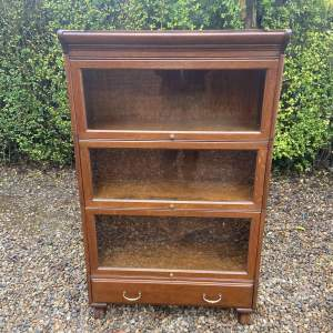 Three Tier Oak Sectional Stacking Bookcase