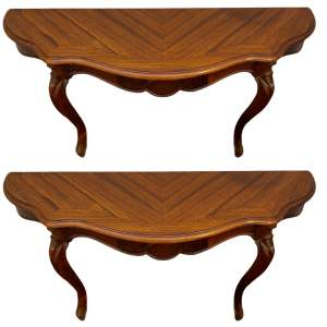 Pair of 19th Century Rosewood Console Tables