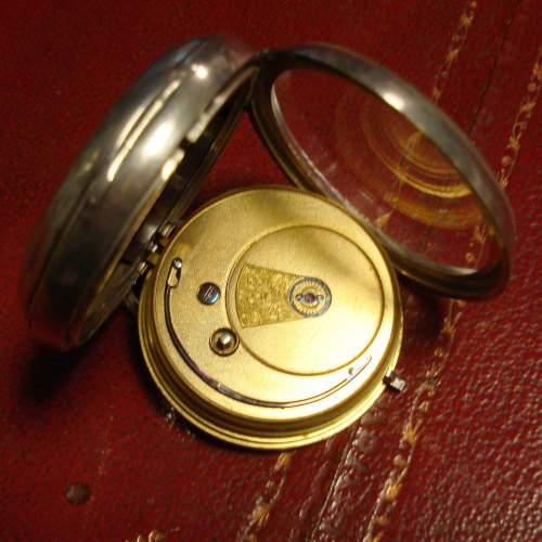 Silver Fusee Pocket Watch image-2