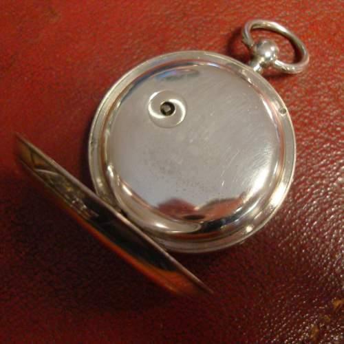 Silver Fusee Pocket Watch image-4