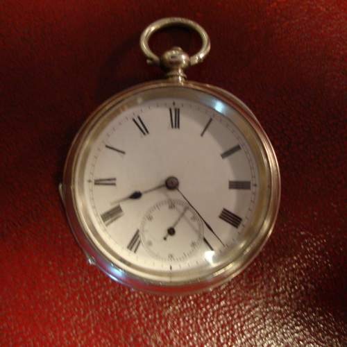 Silver Pocket Watch with Swiss Movement image-1