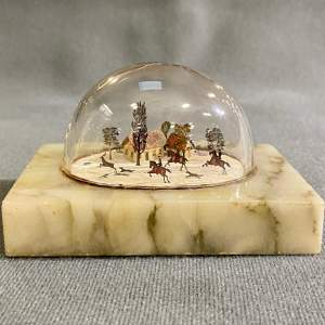 19th Century Miniature Diorama Of a Stag Hunt