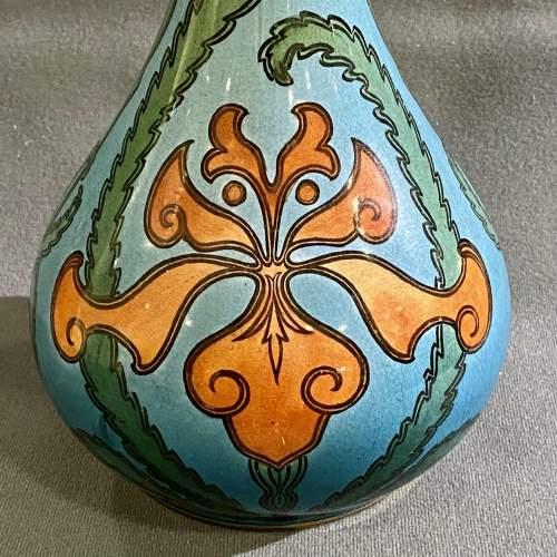 Villeroy and Boch Mettlach Art Nouveau Pottery Vase image-2