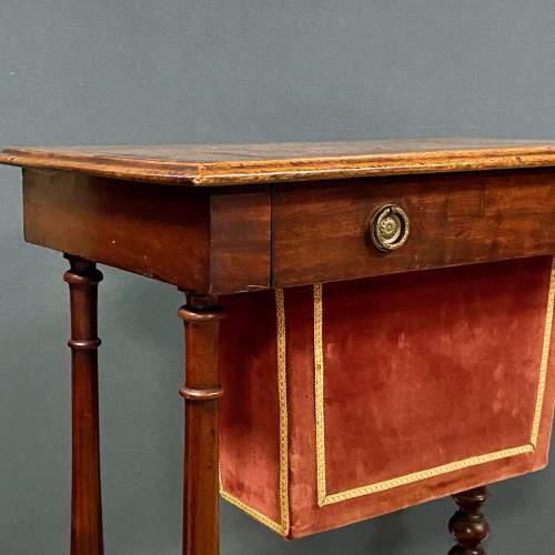 Victorian Inlaid Mahogany Sewing or Games Table image-3