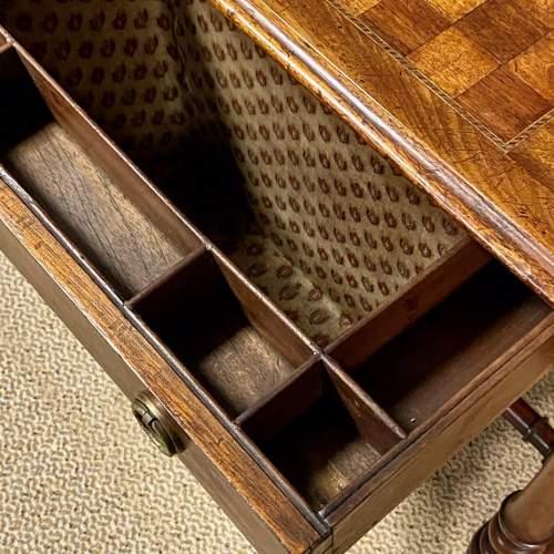 Victorian Inlaid Mahogany Sewing or Games Table image-5