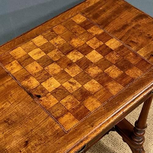Victorian Inlaid Mahogany Sewing or Games Table image-6
