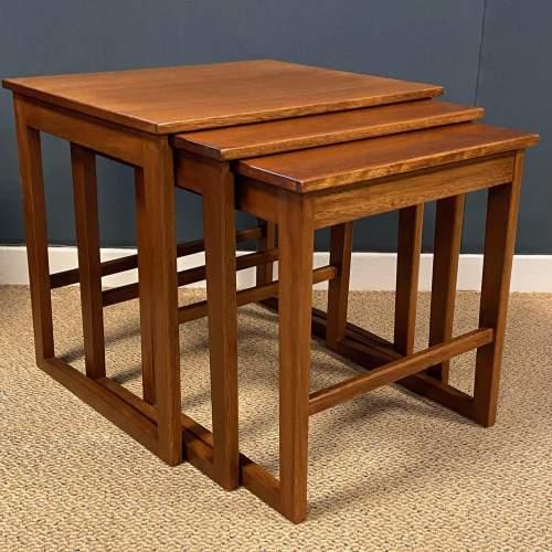 1970s Nest of Three Teak Tables image-1