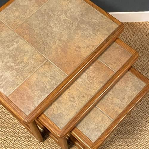 1970s Nest of Three Teak Tiletop Tables image-2