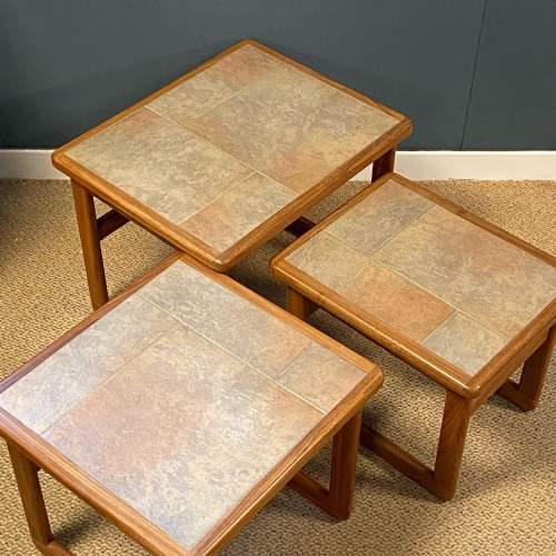 1970s Nest of Three Teak Tiletop Tables image-3