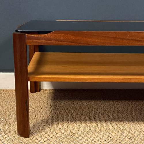 1970s Teak and Glass Two Tier Coffee Table image-3
