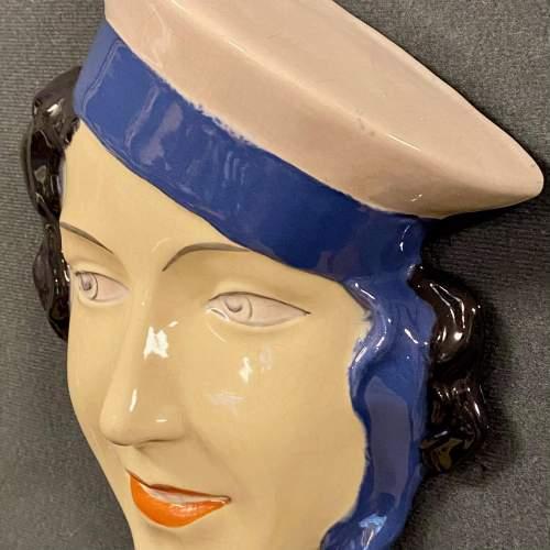 Art Deco Czech Face Wall Plaque image-2