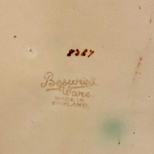 1930s Beswick Flower Basket Wall Plaque image-4