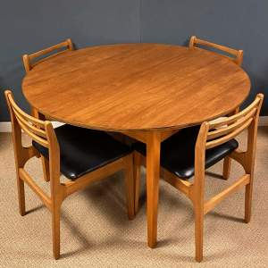 1970s Teak Dining Table and Four Chairs