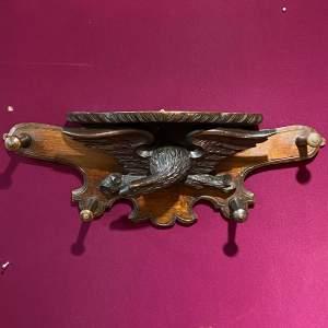 Black Forest Carved Wood Eagle Coat Hanger