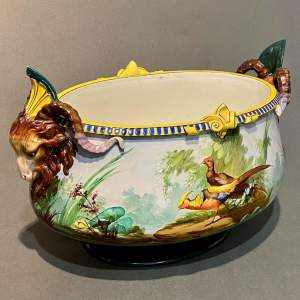 19th Century French Hand Painted Jardiniere