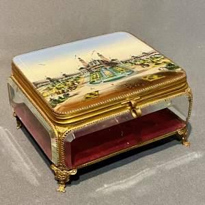 Hand Painted Glass Jewel Casket