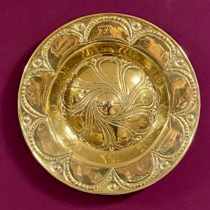 Arts and Crafts Brass Alms Dish
