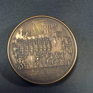 French Brass Soldiers Snuff Box