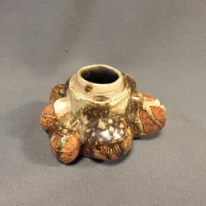 Bernard Rooke Bulbous Brutalist Studio Pottery Vase