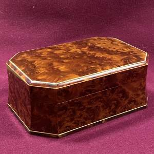 Late 19th Century Walnut Veneered Jewellery Casket