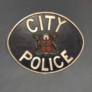 Nottingham City Police Sign