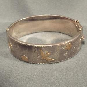 20th Century Sterling Silver Bangle
