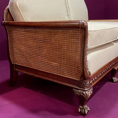 Early 20th Century Chippendale Revival Bergere Lounge Suite image-3