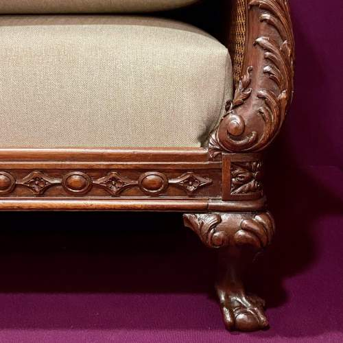 Early 20th Century Chippendale Revival Bergere Lounge Suite image-4