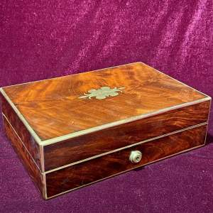 19th Century Mahogany Military Gentlemans Dressing Box