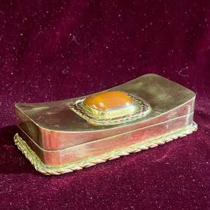 Mid 19th Century Brass Tabletop Snuff Box