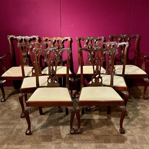 Harlequin Set of Sixteen Chippendale Style Mahogany Dining Chairs image-2