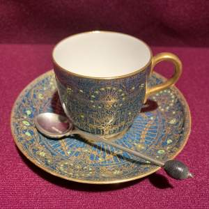 Royal Worcester Cup Saucer and Spoon